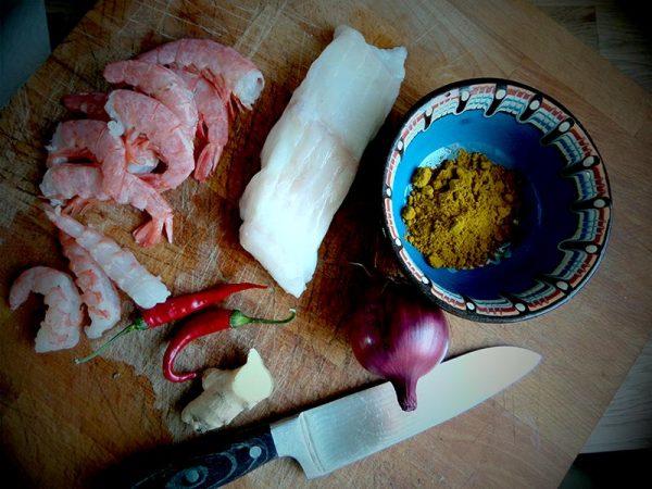 Zutaten Fischsuppe mit Curry
